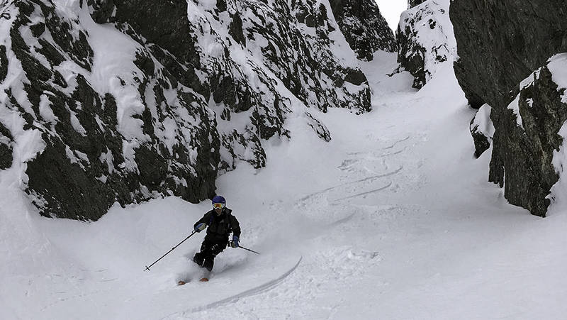 Ski freeride couloirs du lac