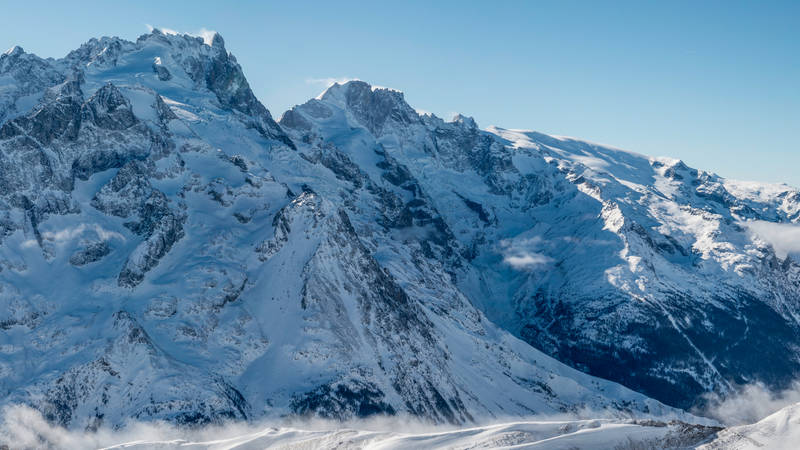 Ski de rando j1 la grave chamonix depuis lautaret