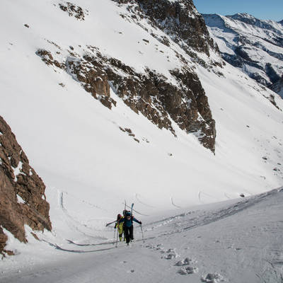 Ski de rando vallon du fontenil ambiance