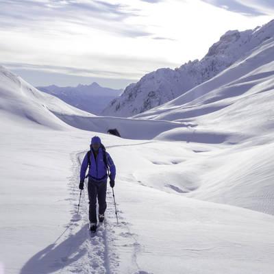 Ski de rando col de c%c3%b4te plaine ambiance